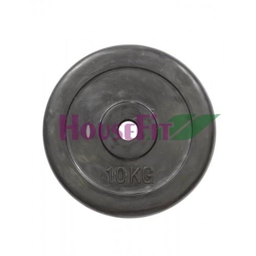 Диск обрезиненный HouseFit R-10 10 кг, код: K00000023039