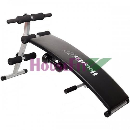 Скамья для пресса HouseFit с гантелями, код: DH8113