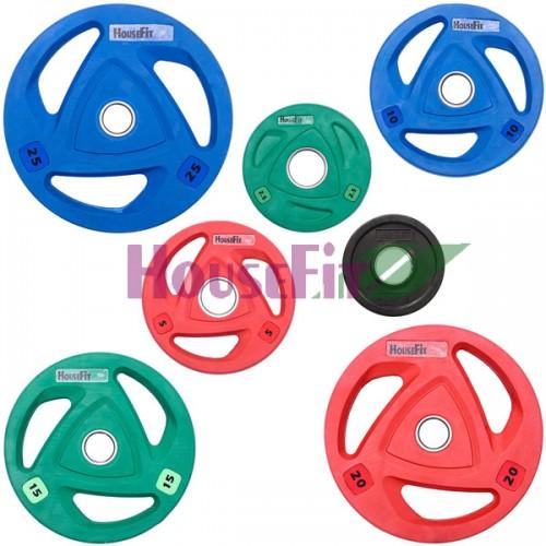 Комплект дисков HouseFit 105 кг (обрезиненные D=50 мм), код: HSFOP