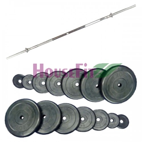Штанга Home HouseFit Rubber 95 кг., код: SH-11
