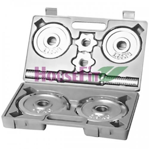 Гантель в наборе хромированная HouseFit: 1 шт., 10 кг., код: DB308